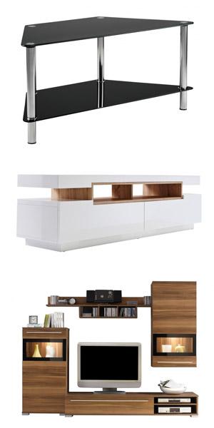 olika tv-bänkar och tv-möbler