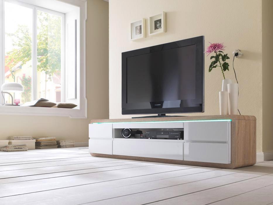 LOCI-Tv-bänk-190-Vit-Ek